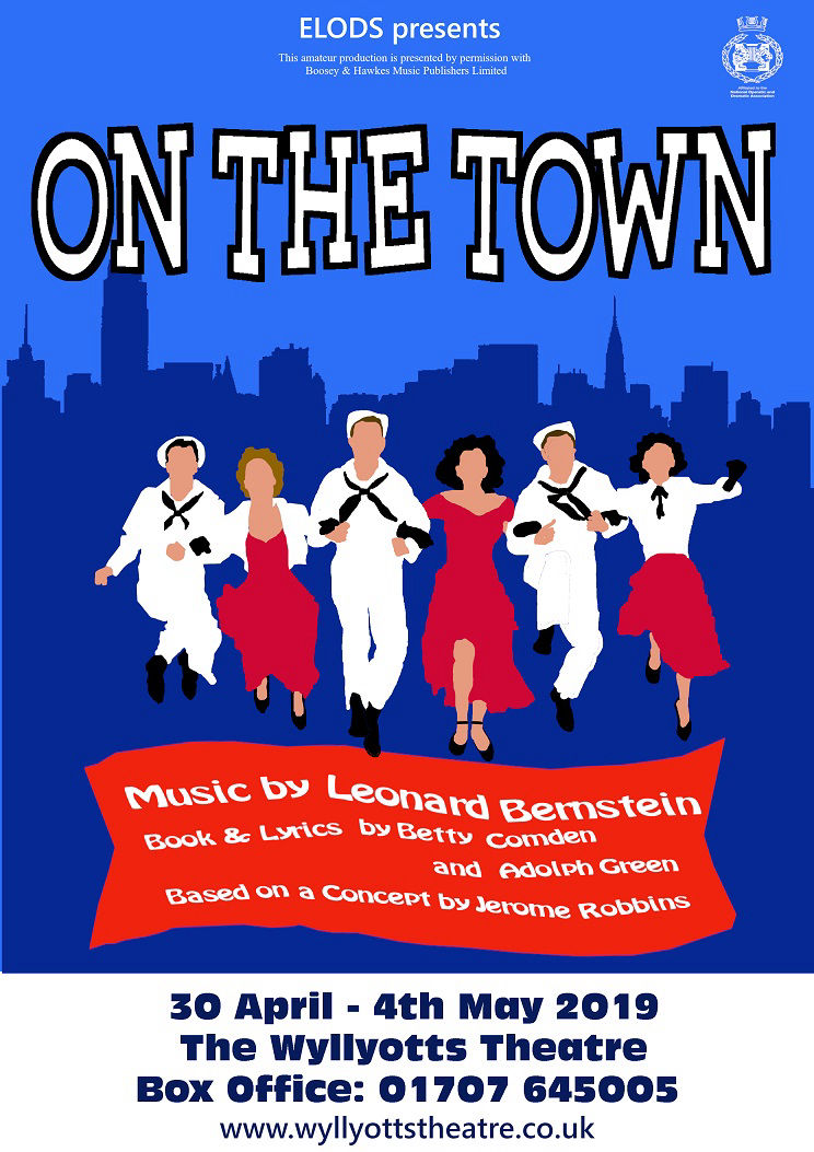 Elods poster for 'On The Town' May 2019